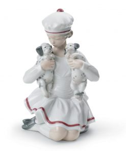 Girl With Dalmatians 01008521 - Lladro Figurine