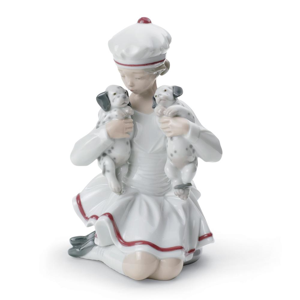 Girl With Dalmatians 01008521 - Lladro Figurine