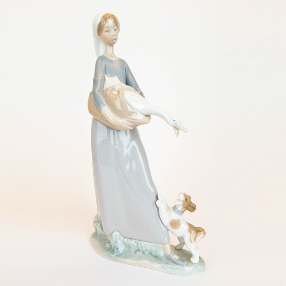 Girl with Goose and Dog 1004866 - Lladro Figurine