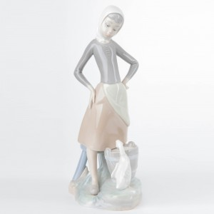 Girl with Milk Pail 1014682 - Lladro Figurine