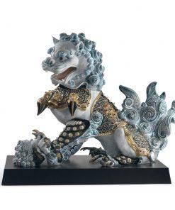 Guardian Lioness (Blue - Left) 01001990 - Lladro Figurine