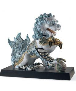 Guardian Lioness (Blue - Right) 01001991 - Lladro Figurine