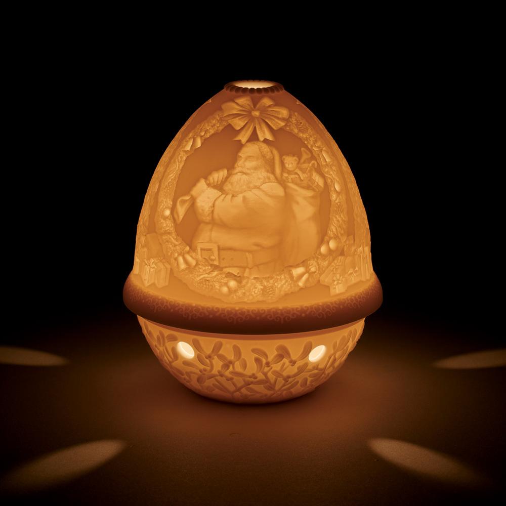 Lithophane Votive Light Santa - 01017340 - Lladro Votive