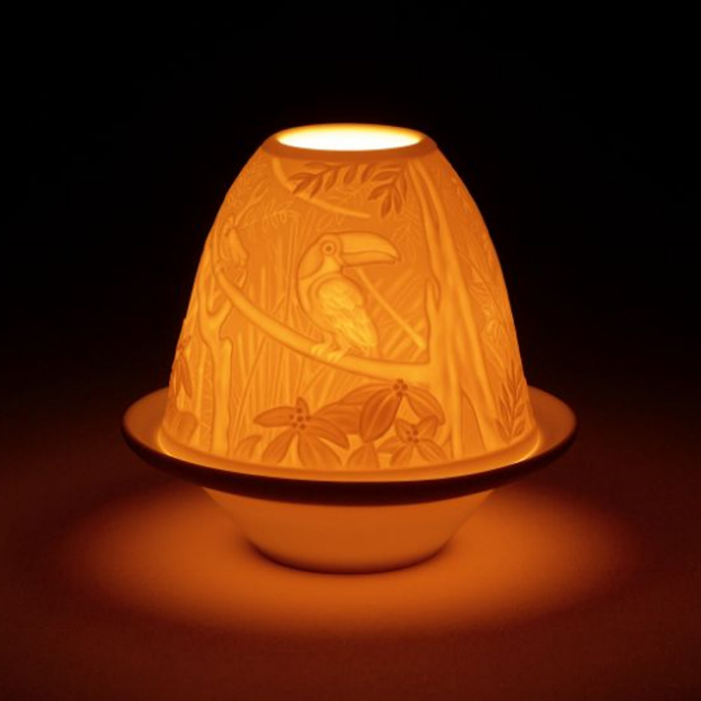 Lithophane Votive Light - Toucans 1017307 - Lladro