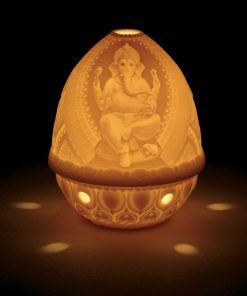Lithophane Votive Light - Lord Ganesha 01017318 - Lladro Votive