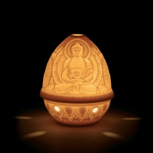 Lithophane Votive Light - Buddha 01017325 - Lladro Votive