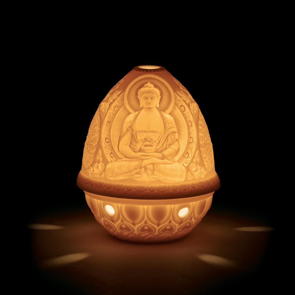 Lithophane Votive Light - Buddha 01017325 - Lladro Votive