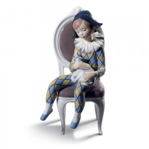 Little Harlequin Blue & Yellow 1008739 - Lladro Figurine