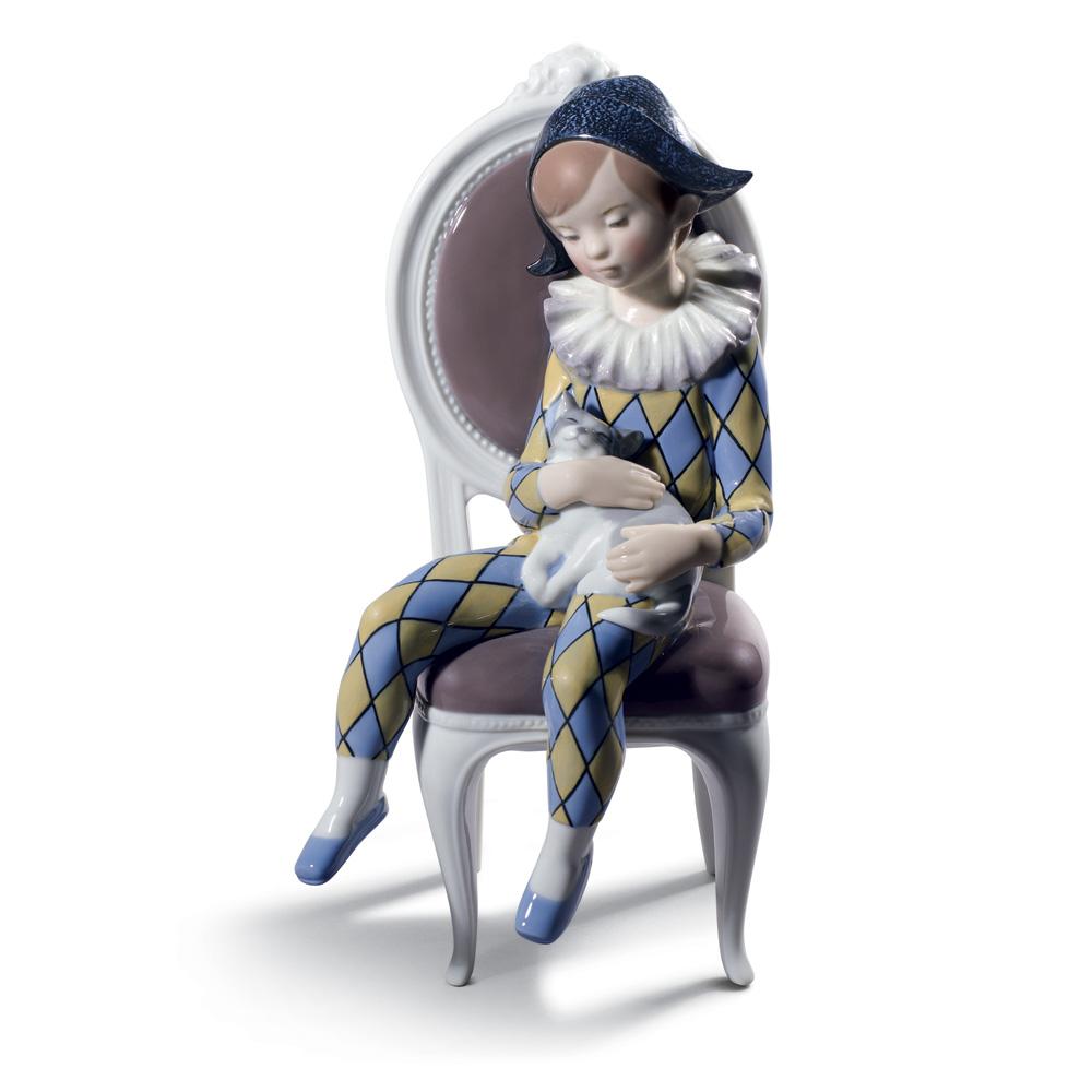 Little Harlequin Blue & Yellow 1008739 - Lladro Figurine