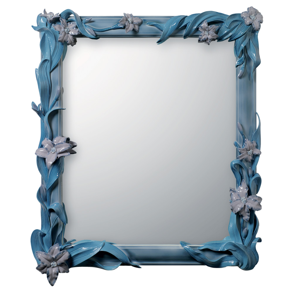Mirror with Lilies Blue 01007176 - Lladro Mirror