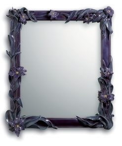 Mirror with Lilies (Wall Mirror - Purple) 01007177 - Lladro Mirror