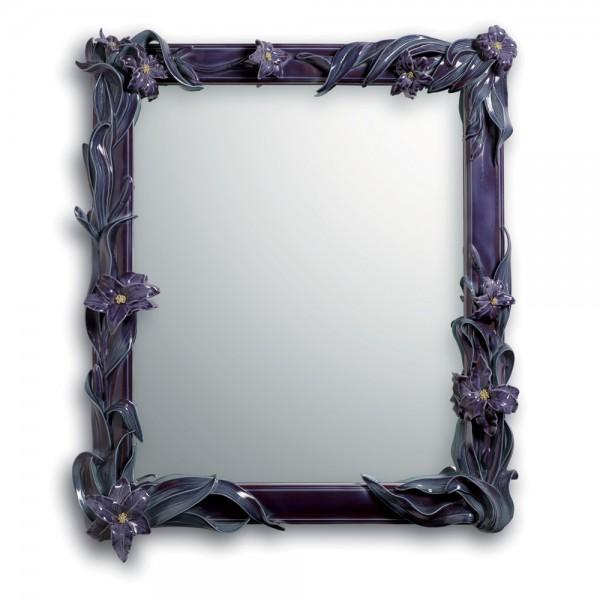 Mirror with Lilies (Wall Mirror - Purple) 01007177 - Lladro Mirror
