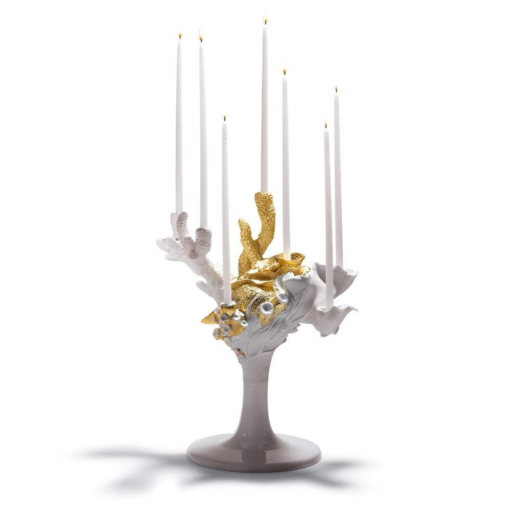 Multi Candleholder (Golden) 01007973 - Lladro Figurine