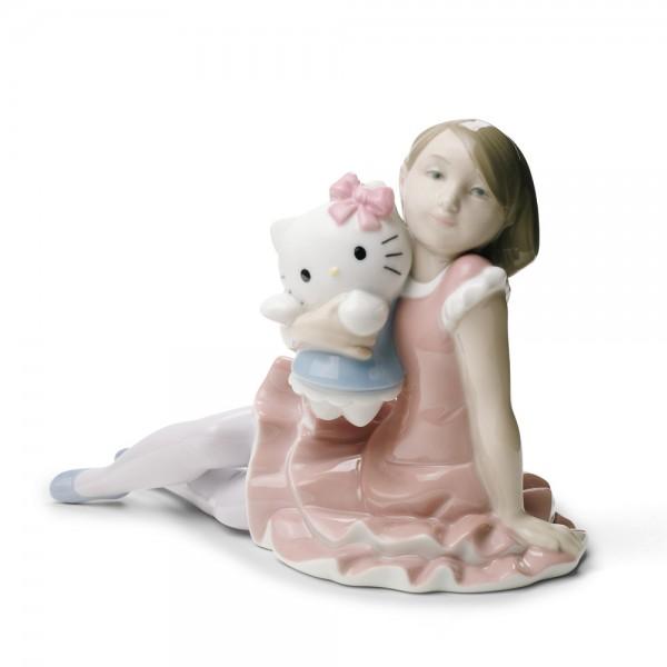 Playing with Hello Kitty - Nao Figurine