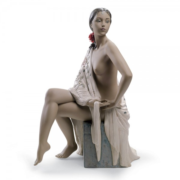 Nude with Shawl 01012536 - Lladro Figurine