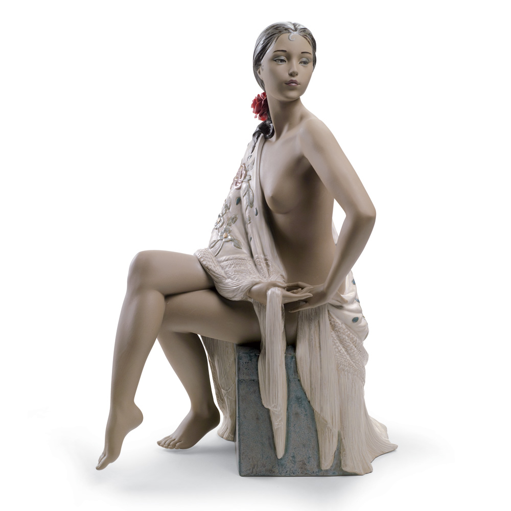 Nude with Shawl 01012536 - Lladro Figurine