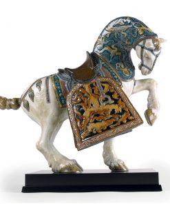 Oriental Horse (Glazed) 01001943 - Lladro Figurine