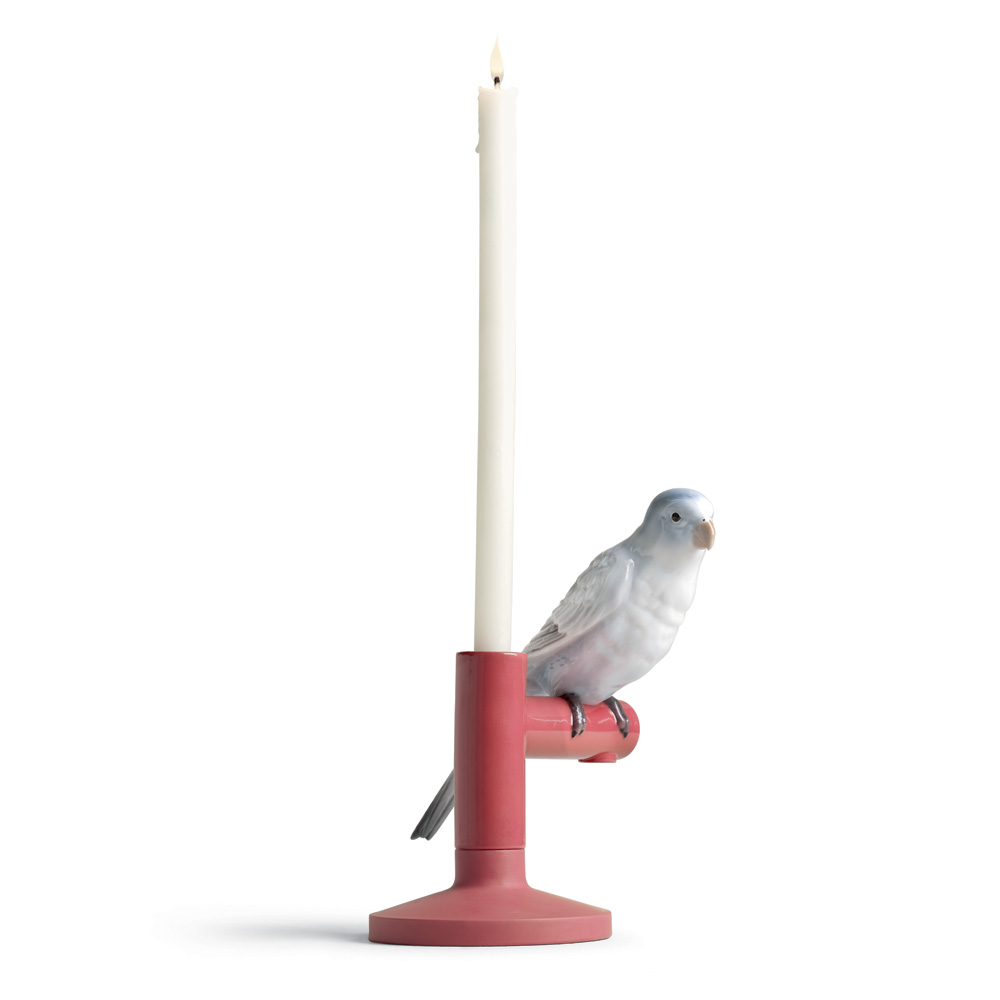 Parrot Light 01007855 - Lladro Candle Holder