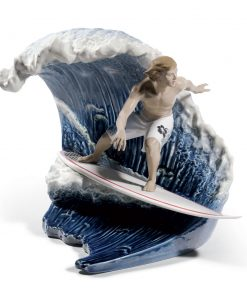Riding The Big One! 01008595 - Lladro Figurine