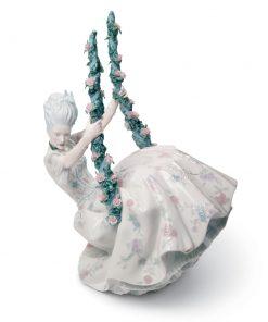 Rococo Lady On Swing 01008424 - Lladro Figurine