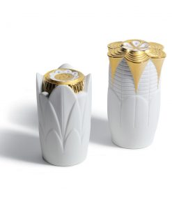 Salt & Pepper Shakers (Golden) 01007989 - Lladro Shakers