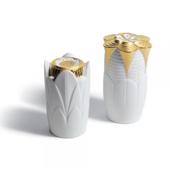 Salt & Pepper Shakers (Golden) 01007989 - Lladro Shakers