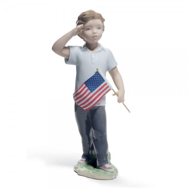 Saluting the Flag 01008578 - Lladro Figurine