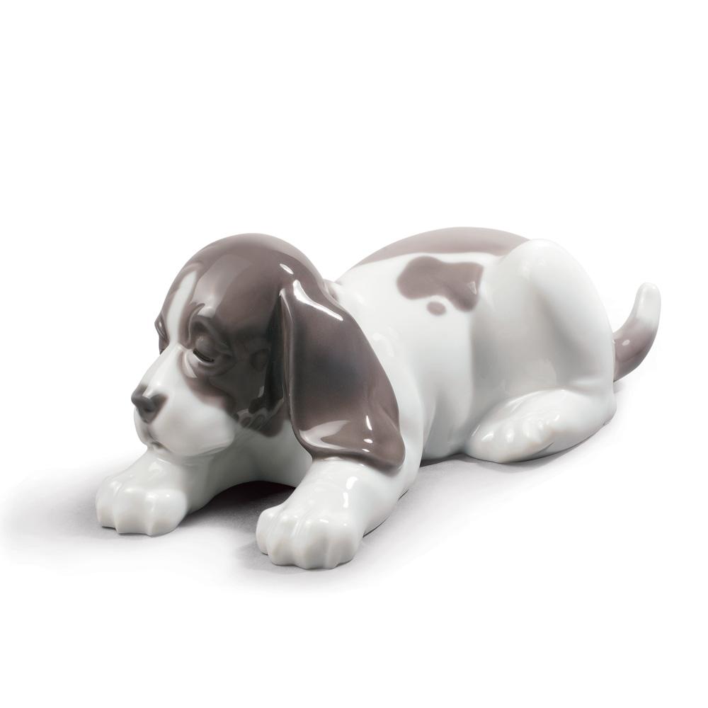 Sleepy Puppy - Lladro Figurine