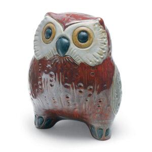 Small Owl (Red) 01012535 - Lladro Figurine
