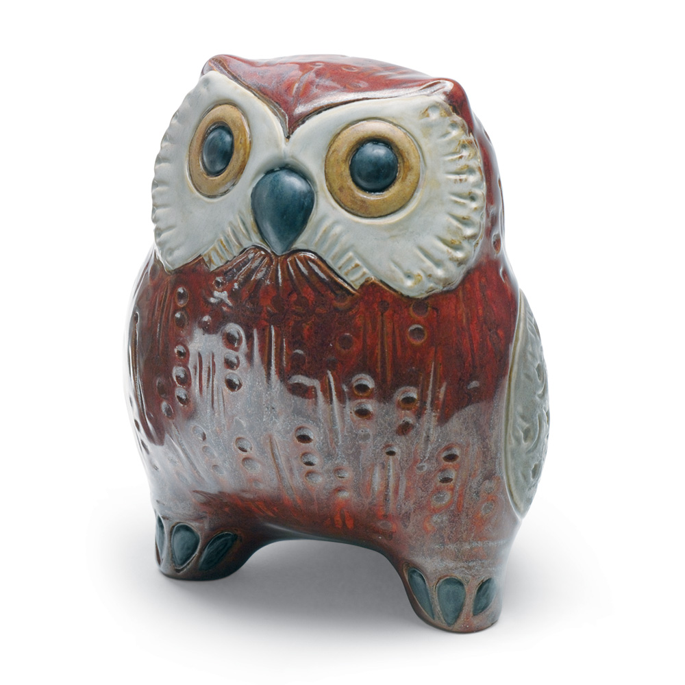 Small Owl (Red) 01012535 - Lladro Figurine