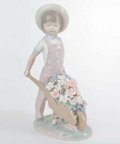 Wheelbarrow with Flowers 1001283 - Lladro Figurine