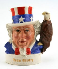 Uncle Sam (Eagle Whiskey Flask, Var. 2) - Royal Doulton Liquor Container