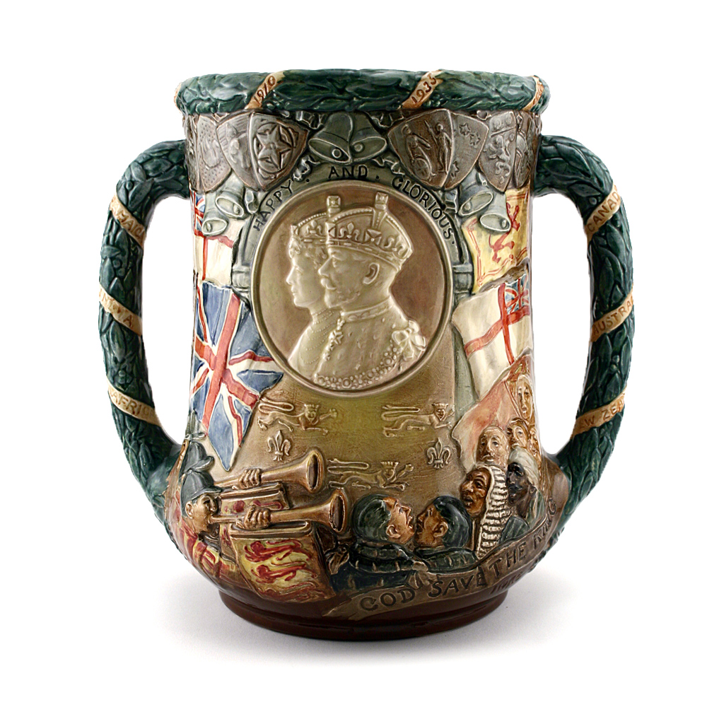 King George V and Queen Mary Silver Jubilee - Royal Doulton Loving Cup