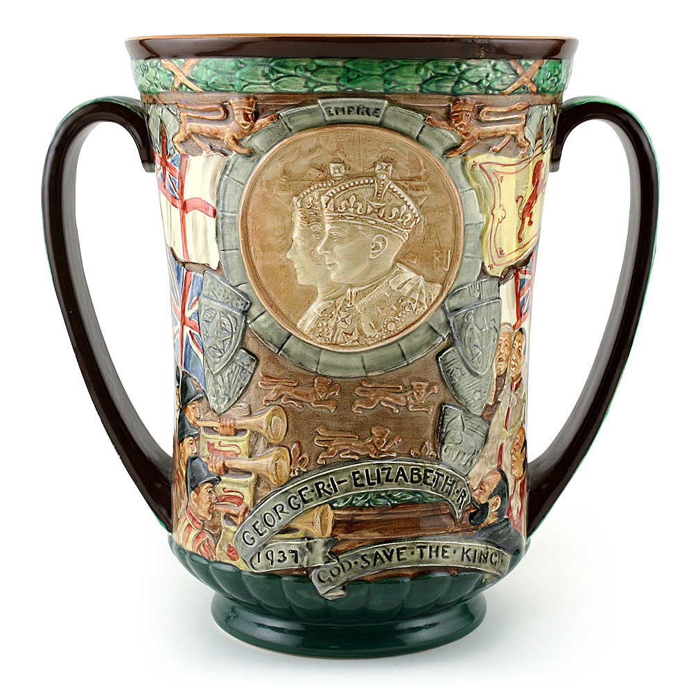 King George VI and Queen Elizabeth Coronation Loving Cup (Large) - Royal Doulton Loving Cup