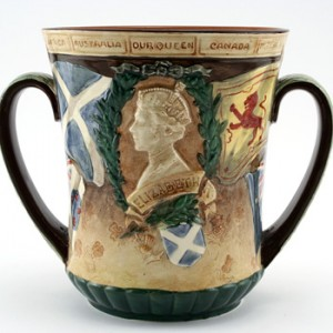 King George VI and Queen Elizabeth Coronation Loving Cup (Small) - Royal Doulton Loving Cup
