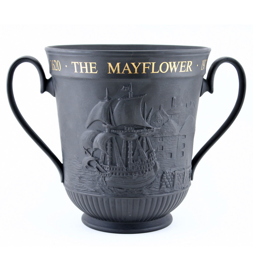 The Mayflower and the Pilgrim Fathers Basalt - Royal Doulton Loving Cup
