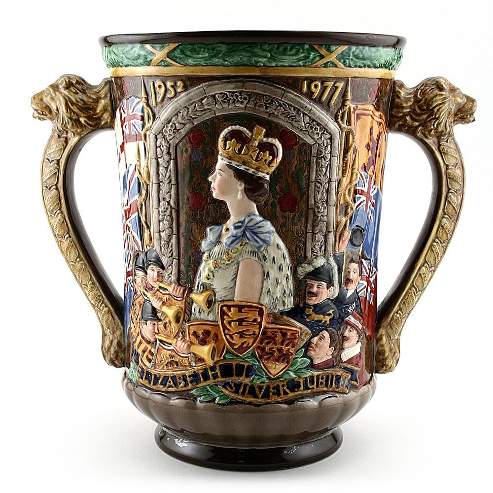 Queen Elizabeth II Silver Jubilee - Royal Doulton Loving Cup