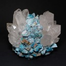 Kathryn McCoy Votive Turquoise and Clear Apatite and Quartz