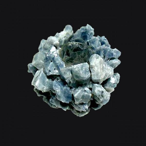 Kathryn McCoy Votive Medium Blue Calcite