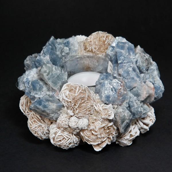 Kathryn McCoy Votive Small Desert Rose Blue Calcite