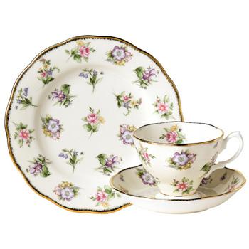 1920 Spring Meadow - 3pc Teacup Set - Royal Albert