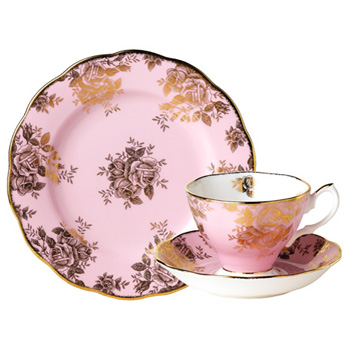 1960 Golden Roses - 3pc Teacup Set - Royal Albert