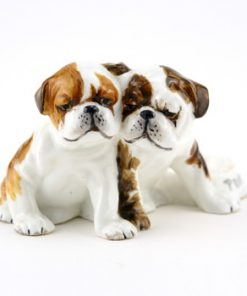 Bulldog Puppies RW3133 - Royal Worcester