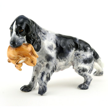 Cocker Spaniel with Rabbit RW33 - Royal Worcester