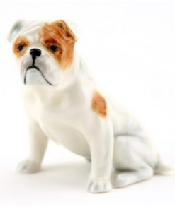 English Bulldog RW2945, White - Royal Worcester