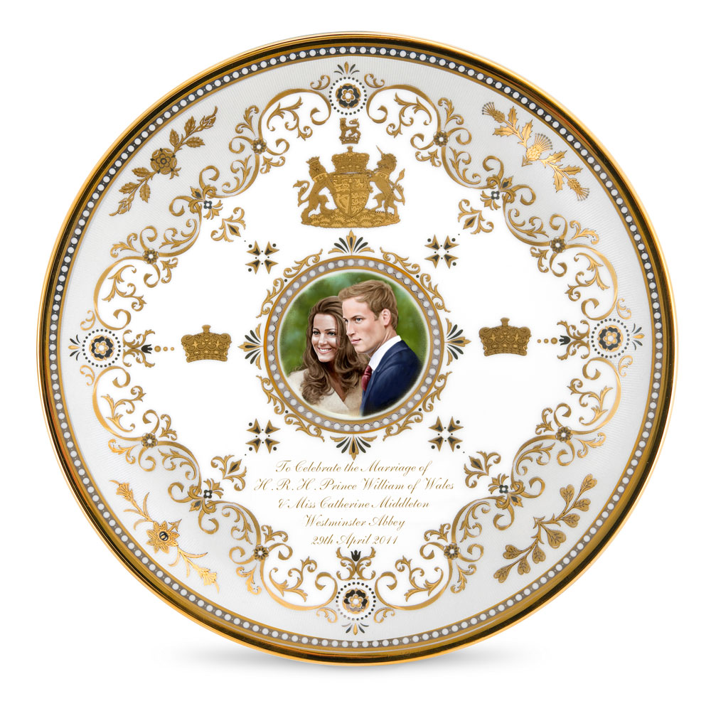 Royal Wedding Coupe Plate - Royal Worcester