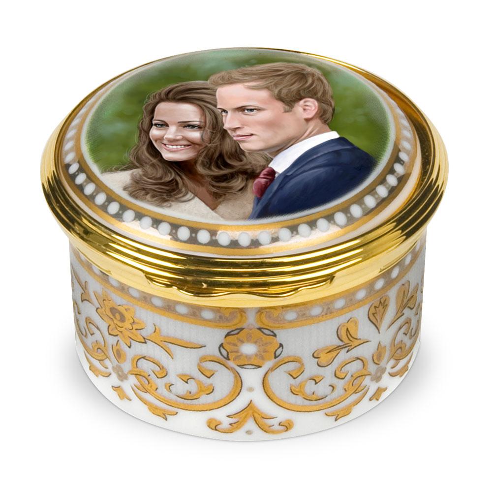 Royal Wedding Hinged Box - Royal Worcester