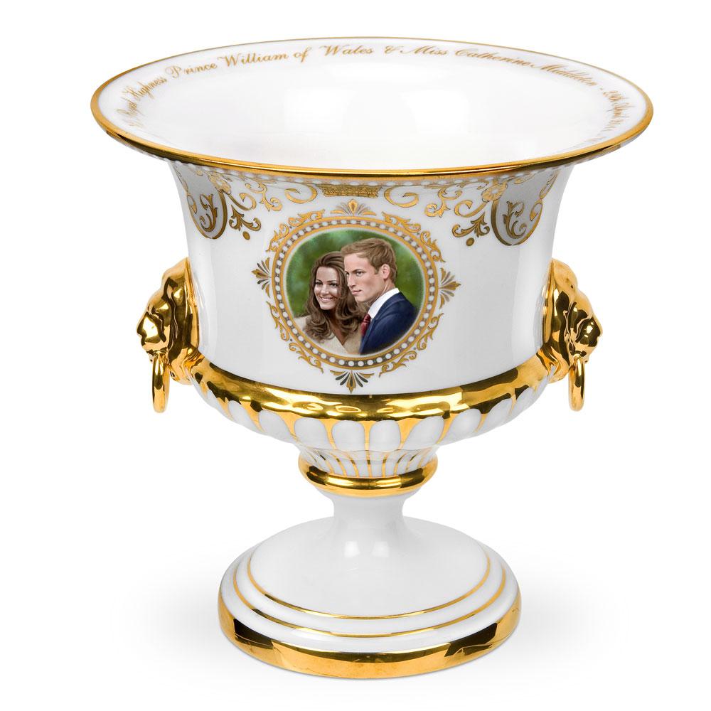 Royal Wedding Lion Head Vase - Royal Worcester