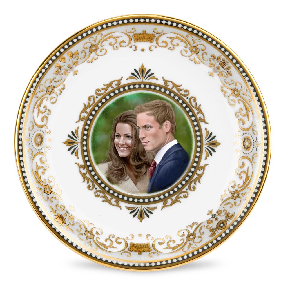 Royal Wedding Round Tray - Royal Worcester
