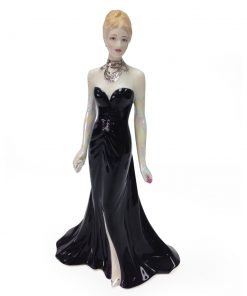 Elizabeth Emanuel Black Gown CW568 - Royal Worcester Figure